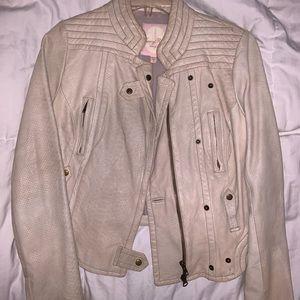 TRACY REESE Leather Moto Jacket 34